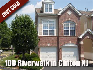 Happy To Announce The Sale of 109 Riverwalk Way in Riverwalk in Clifton NJ!!!