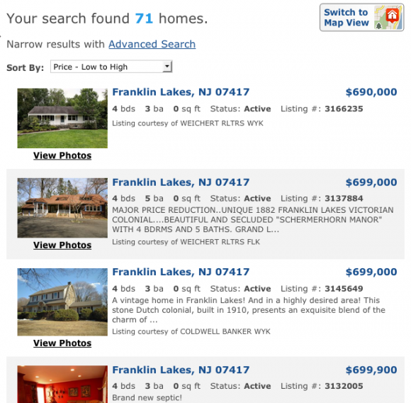 Franklin Lakes Homes For Sale